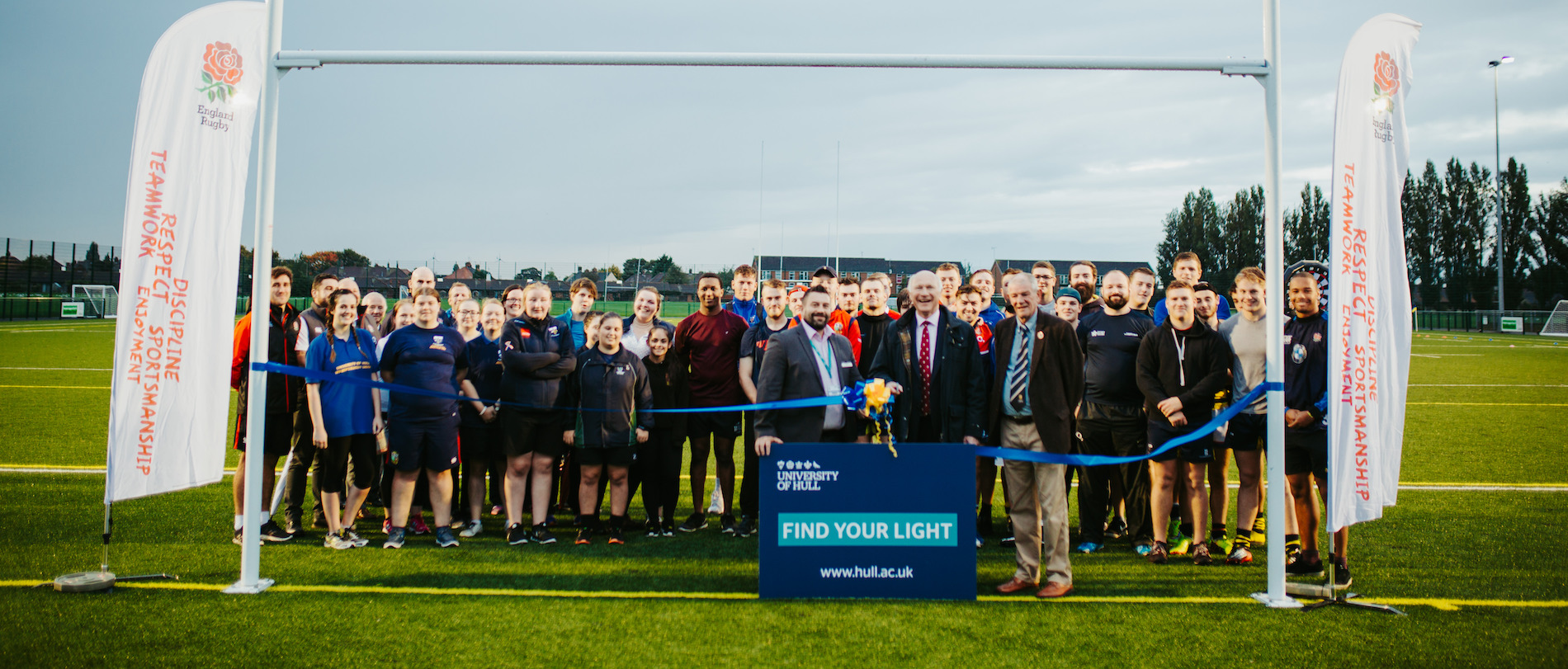 John Spencer opens new rugby pitch at University
