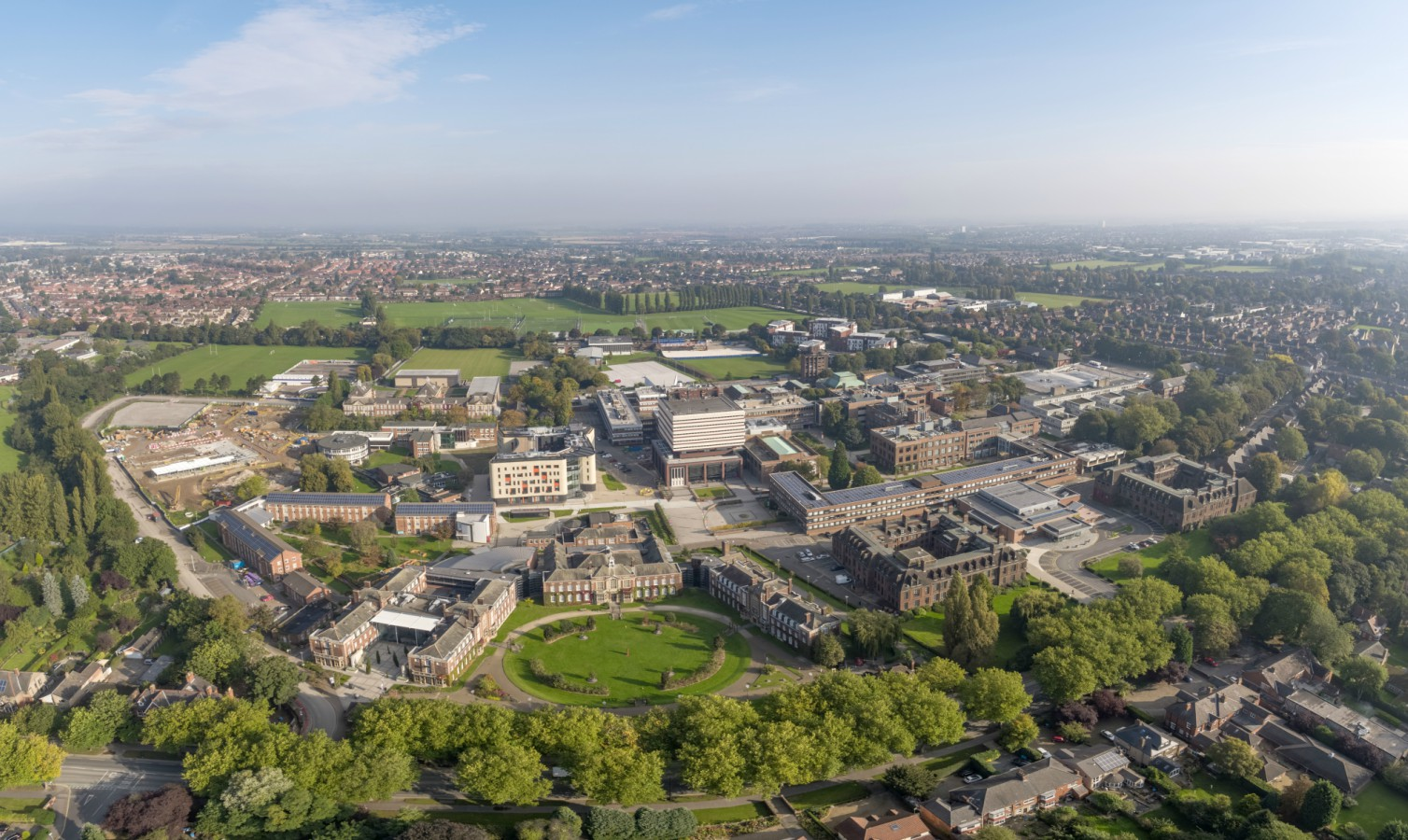 Campus Aerial from Cottingham Road