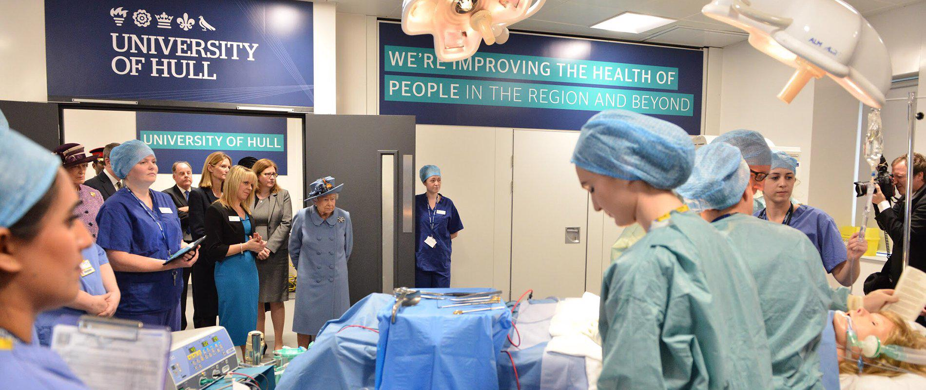 Royal visit to the Allam Medical building