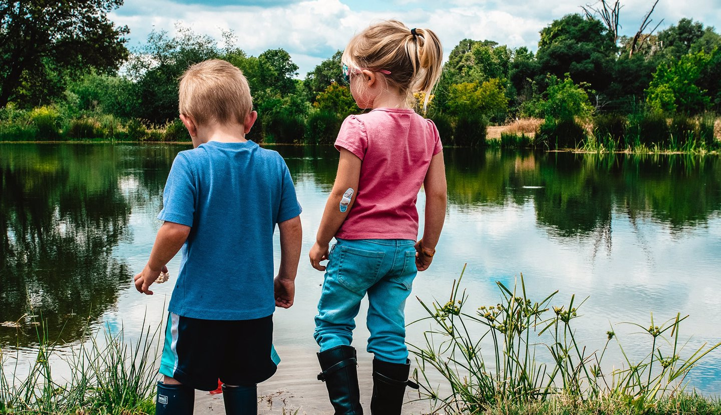 children-by-lake-early-childhood-studies