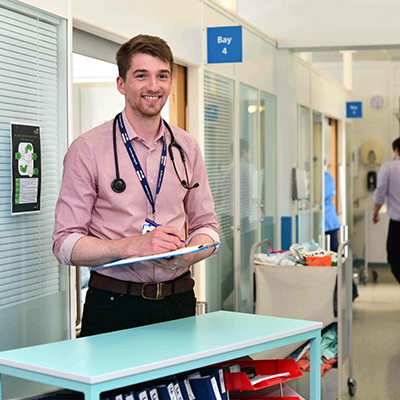 Hull York Medical School student on placement