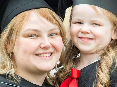 Double celebration as mother overcomes odds to graduate from University of Hull