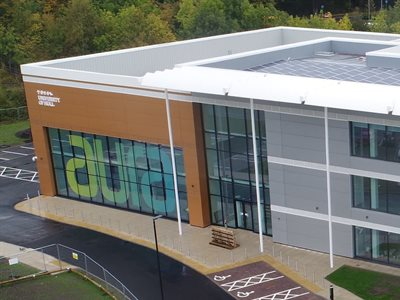 University's climate change commitment strengthened as Aura Innovation Centre reaches major milestone